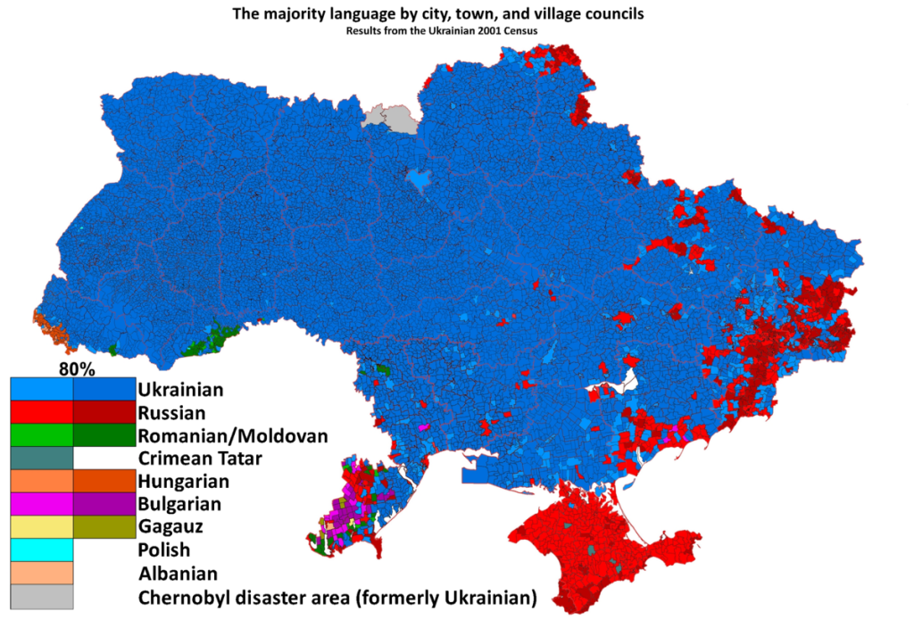 Language and ethnicity in Ukraine