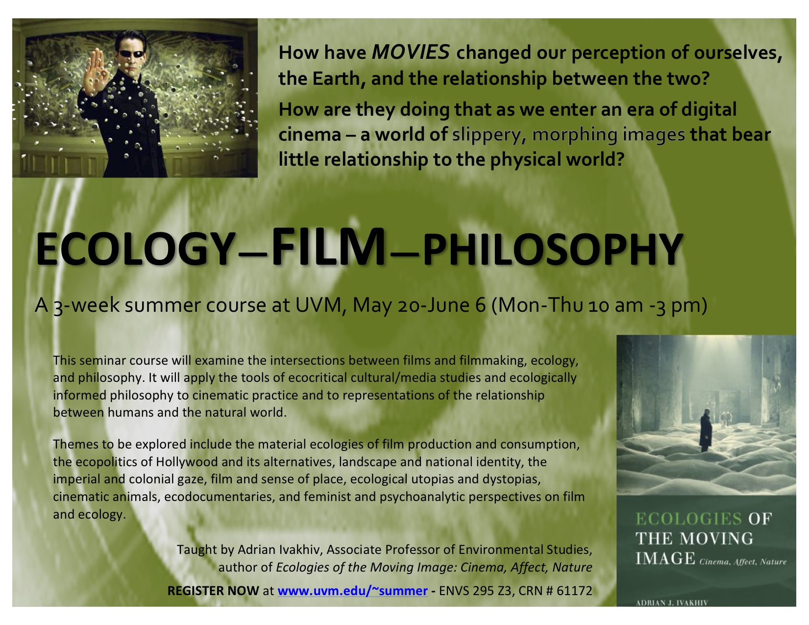Ecology ~ Film ~ Philosophy