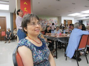 Professor Jeanne Shea doing ethnographic research on community-based support for aging in place at a senior center in China.