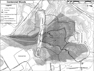 Map of Centennial Woods from http://www.uvm.edu/~uvmsc/Centennial%20Woods/centennial_woods_trails.jpg