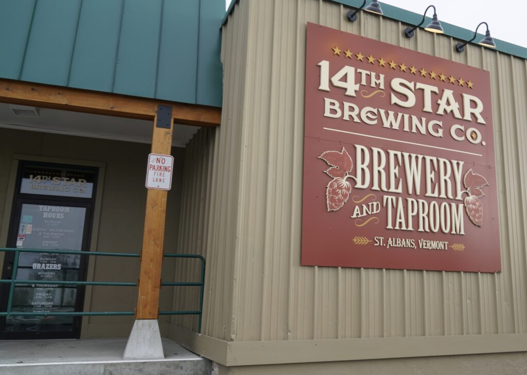 14th Star Brewing Company taproom and brewery sign