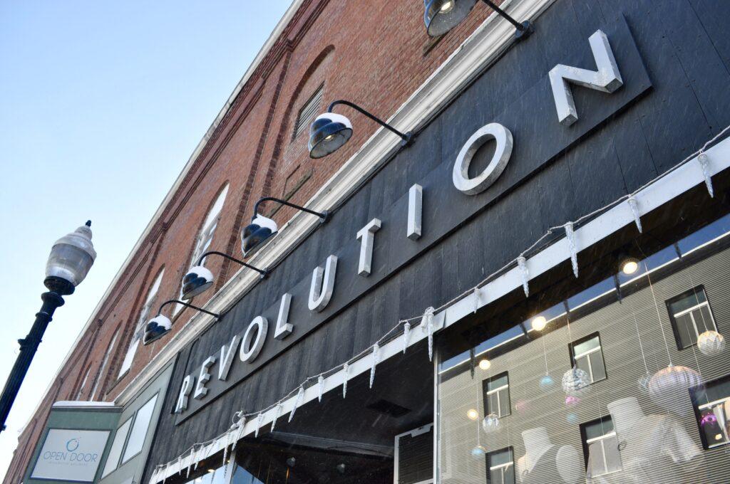 Revolution's exterior sign