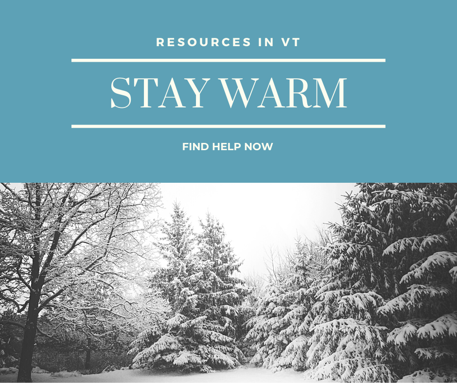 Resources in VT to stay warm.  Find help now.