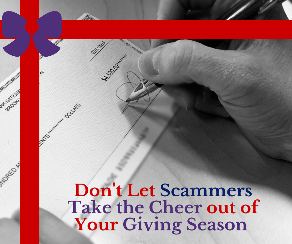 Don't let scammers take the cheer out of your giving season