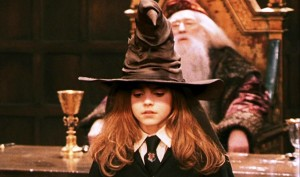 Hermione in the Sorting Hat