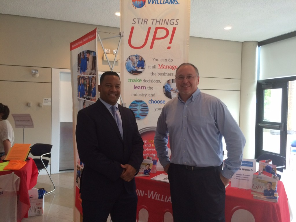 Maurice and a colleague from Sherwin Williams