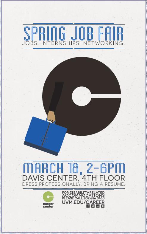 Spring 2015 Job Fair poster Image