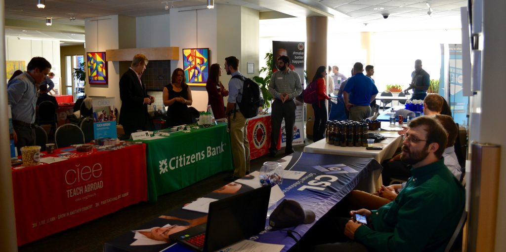 Photo of various tabling employers