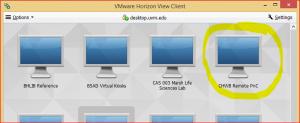 HorizonViewSelectDesktop