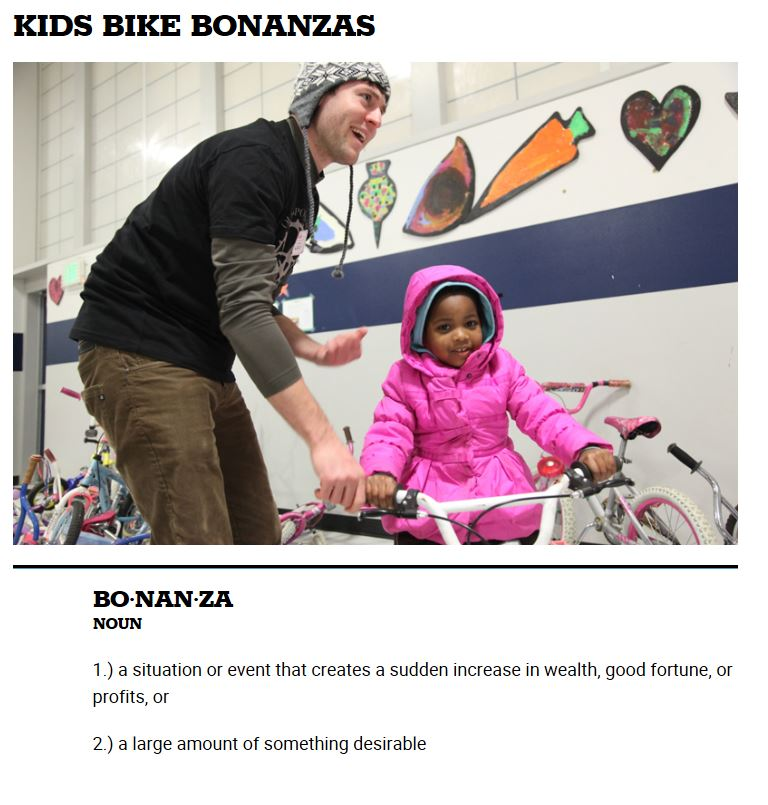Kids bike giveaway, Mercy Winter/Summer events, & Working Bridges Resources of the Month