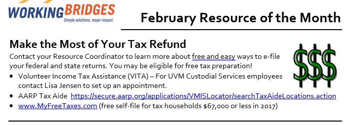 Tax Return Help & Summer Camp Sign-ups
