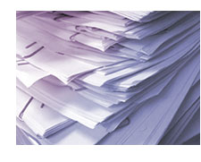 stack of papers to grade