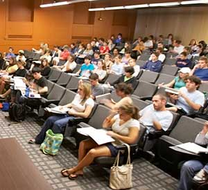 UVM students in lecture hall