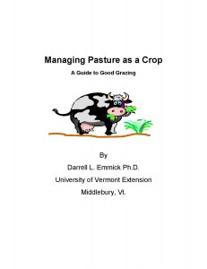 Managing Pasture as a Crop