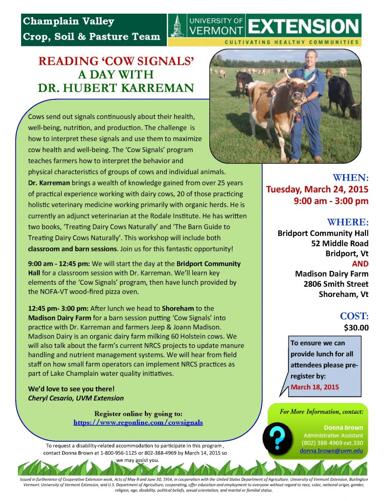Reading 'Cow Signals': Upcoming Workshop