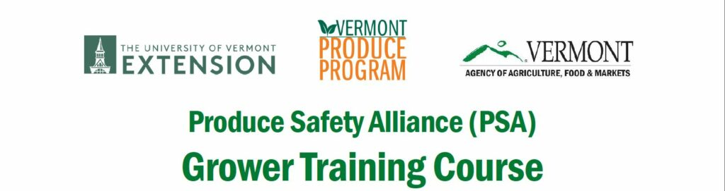 FSMA PSA Training - Middlebury, VT - 3/19