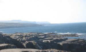 The Burren, looking south to Cliffs of Moher, Ireland, Oct 2013