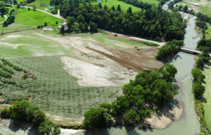 Destroyed crops due to flooding, Waitsfield, VT