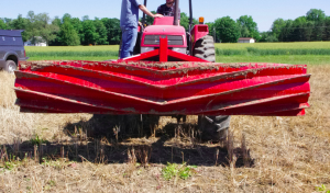 Roller crimper turns cover crop into mulch for cash crop