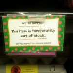 Eggs out of stock 10-11-11