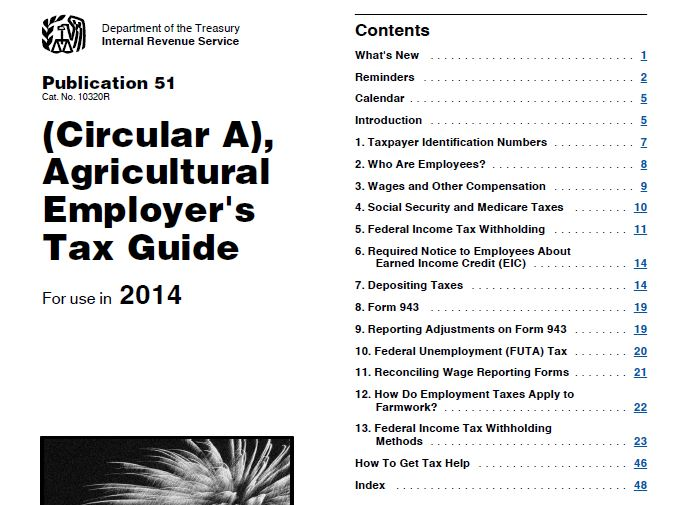 IRS Publication 225:  Farmer's Tax Guide