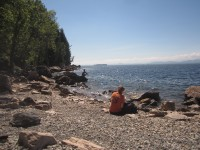 Pondering the geology of a Lake Champlain beach
