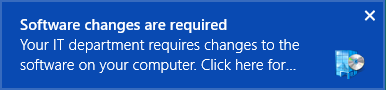 This alert pops-up in the upper right corner of the screen on Windows 8 family systems.