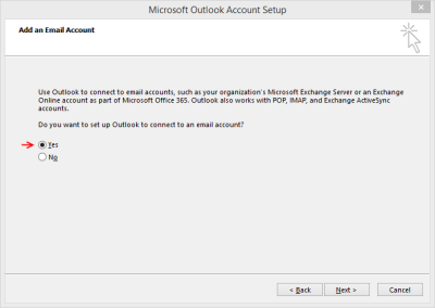 Outlook 2013 Setup - Connect to email?