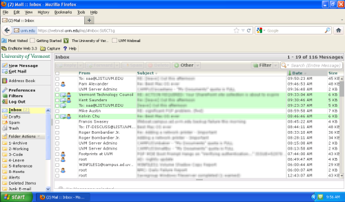 Webmail on a Netbook