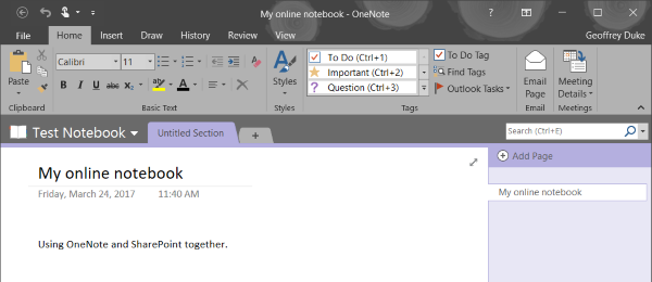 Moving OneNote notebooks to SharePoint