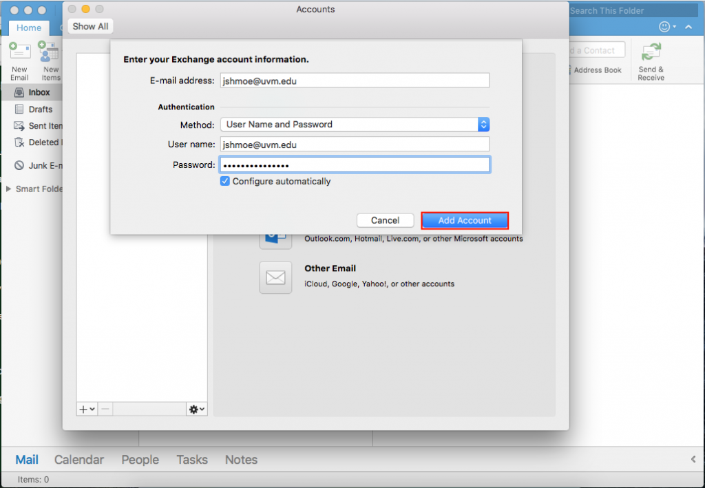 Outlook Mac 3