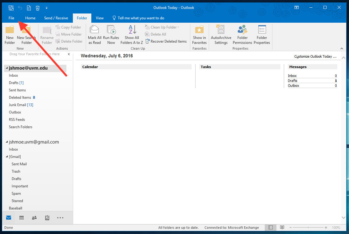 how to send exchange emails from gmail
