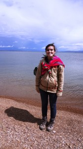 Andria at Lake Titicaca (click to enlarge)