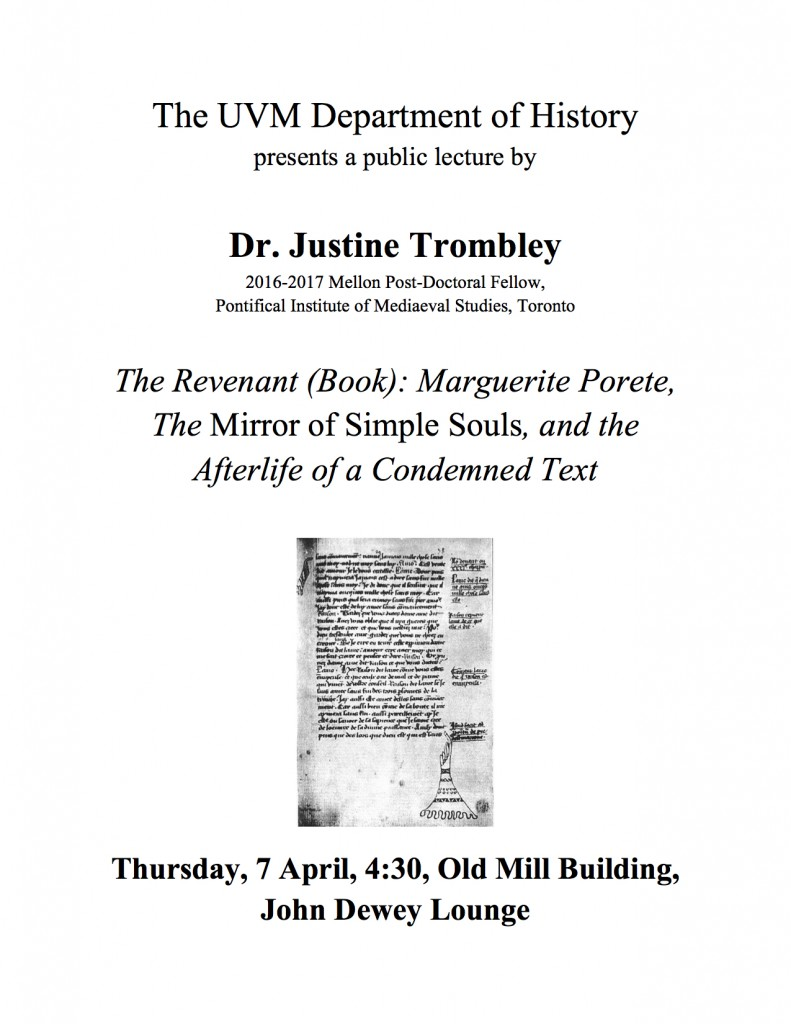 TODAY: Join us for a talk by one of our alumnae