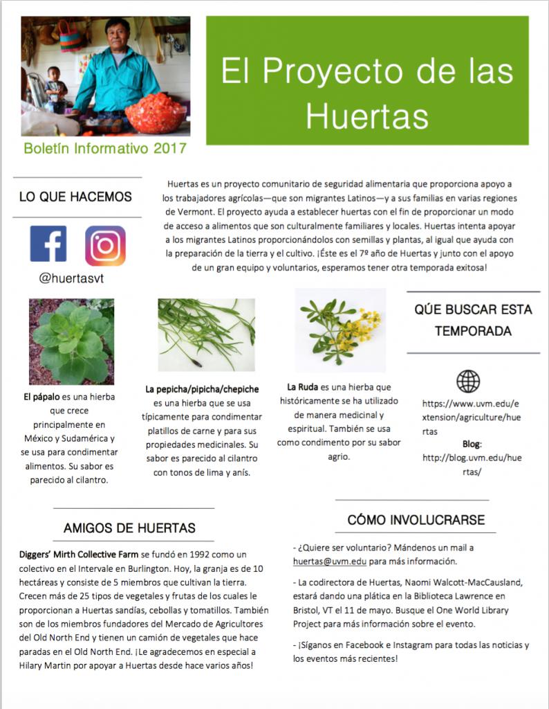 2017 Newsletter / Boletín Informativo 2017
