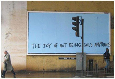 """the joy of not being sold anything"""