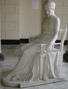 Penelope marble statue