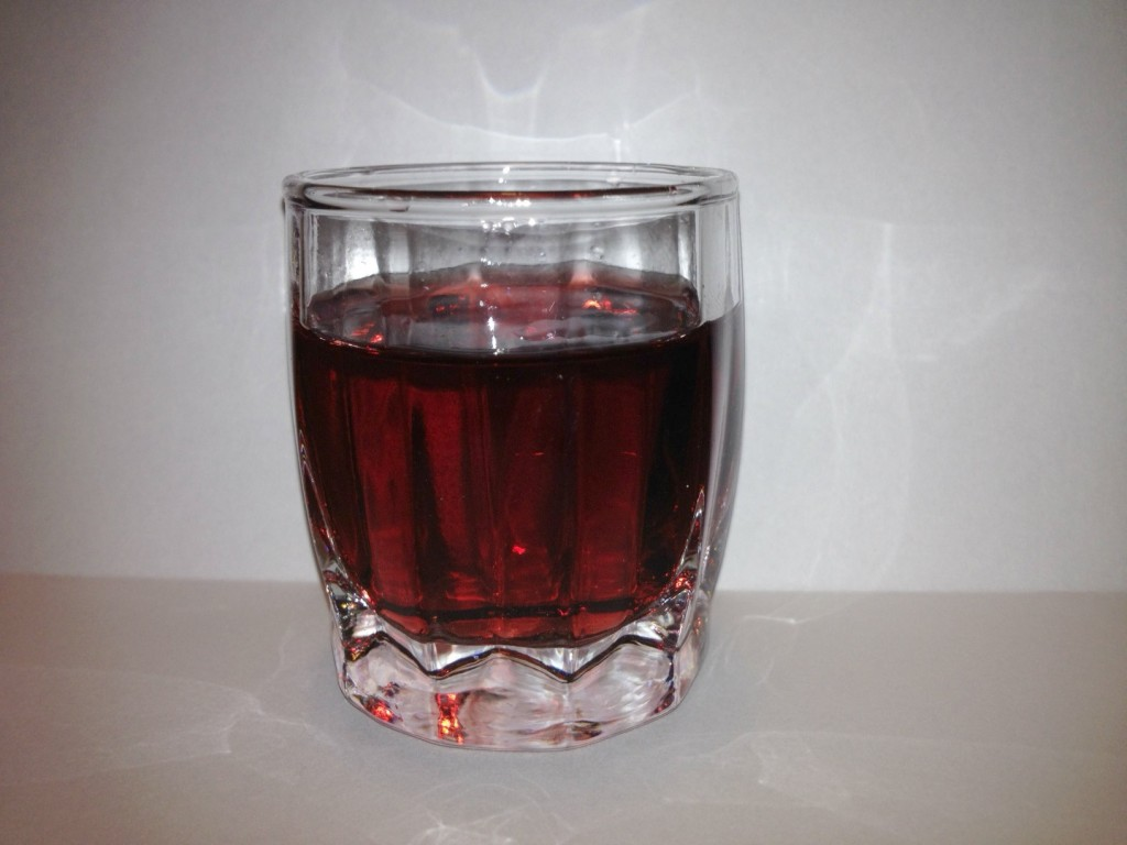 Glass of young vishnivka