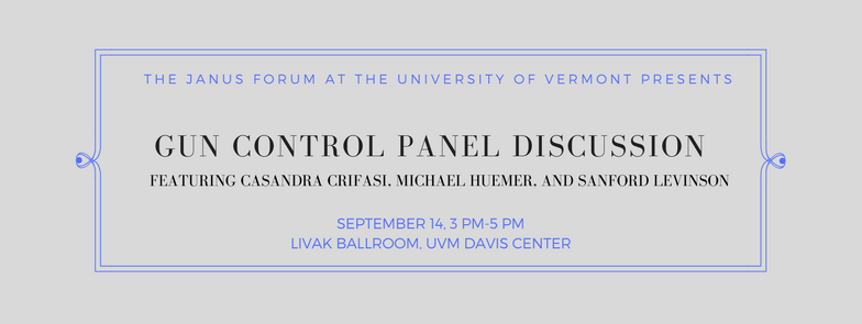 Special Announcement: Gun Control Panel Discussion Event