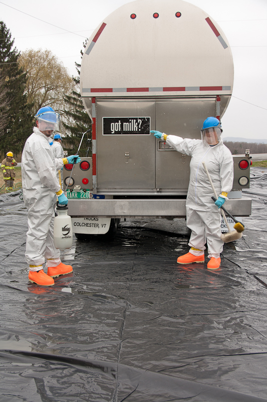 Addison County Milk Truck Decontamination Drill - Photo by Louis Bedor III
