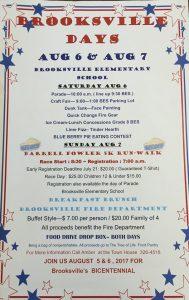 A flyer for the Brooksville Days celebration