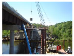 Construction on I-89 bridge n Milton, VT from June 2015 (Photo courtesy of Dennis Nazarenko)