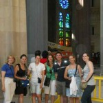 student affairs students in sagrada familia