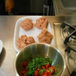 meatballs, and tomatoes for bruschetta