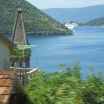 Cruise ship heading for Kotor