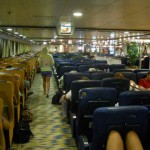 Inside the ferry on return trip