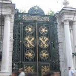 Entrance gate for the Galata Palace Imperial School