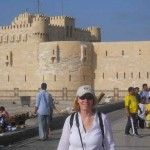 Kathy at the Citadel of Qaitbay