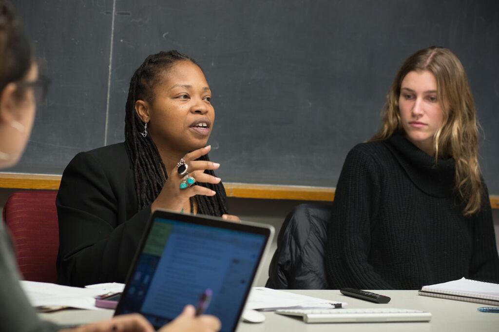 Katrinell Davis from UVM's Department of Sociology