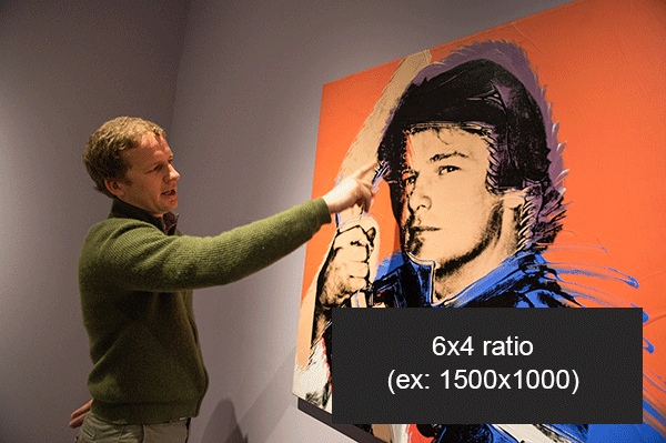 demonstrating 6x4 image ratio